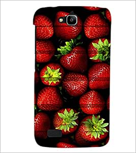 Printdhaba Strawberries D-5981 Back Case Cover For Huawei Honor Holly