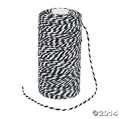 Black and White Baker's Twine - 1 Roll - 328 ft