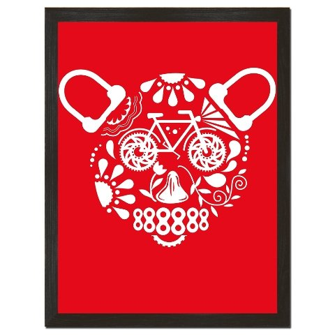 Clockwork Gears Cwg-P31 Day Of The Bear Cycle Red 18 X 24 In. High Quality Art Print