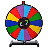 18 Inch Round Tabletop Color Prize Wheel 14 Clicker Slots Editable Fortune Design Carnival Spin Game