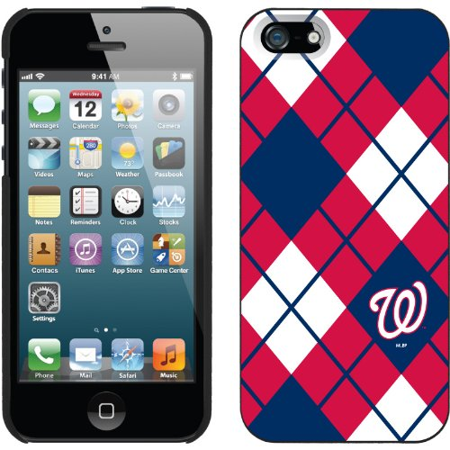 Great Sale Washington Nationals - Argyle design on a Black iPhone 5s / 5 Thinshield Snap-On Case by Coveroo