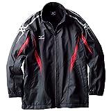 (ミズノ)MIZUNO クロスティック ウォーマーシャツ 32JE4931 96 ブラック×チャイニーズレッド 130