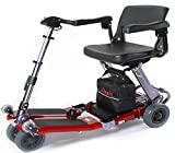 Luggie Mobility Scooter Suitcase: (No), Color: Red, Arm Rests: Flip-back armrests