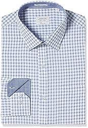 Arrow Men's Formal Shirt (8907378514233_ASSF0205_44_Medium Blue)