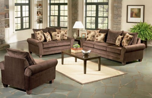 Buy Low Price AtHomeMart 2PC Chocolate Sofa and Loveseat Set (COAS502181_502182_2PC)