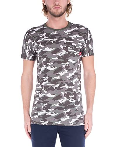 Supreme Italia Camiseta Manga Corta Verde Militar / Blanco