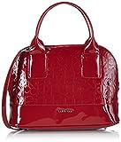 Calvin Klein Jeans MAGGIE SMALL SATCHEL 2 J6EJ600394 Damen Henkeltaschen 28x21x10 cm (B x H x T), Rot (CRIMSON RED 618)