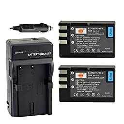 DSTE® 2x EN-EL9 Battery + DC15 Travel and Car Charger Adapter for Nikon D40 D40X D60 D3000 D5000 Digital Camera as EN-EL9A