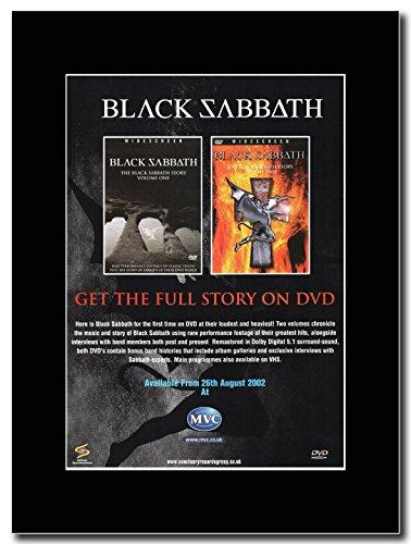 Black Sabbath, motivo Black Sabbath Story Vol. 1 & 2 Magazine Promo su un supporto, colore: nero