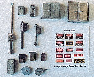 MAINLINE DETAIL SET - JL INNOVATIVE DESIGN HO SCALE MODEL TRAIN ACCESSORIES 502
