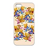 TPU iPhone 5s Case,Winnie the Pooh Design Fashion Pattern Hard Back Cover Snap on Case for iPhone 5 / 5s (Black/white)