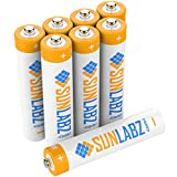 SunLabz® AAA Rechargeable Batteries (8 Pack) Highest Performance NiMH 1000mAh