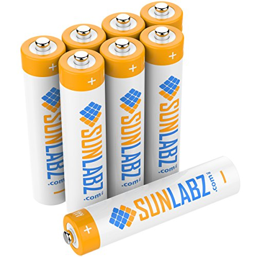 SunLabz AAA NiMH 1000mAh Rechargeable Batteries (Pack of 8) (Aaa 1000 Mah Rechargeable compare prices)