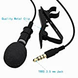 Professional #1 Best Lavalier Lapel Microphone Omnidirectional Condenser Mic for Apple IPhone Android & Windows Smartphones,Youtube,Interview,Karaoke, Studio,Video Recording,Noise Cancelling Mic