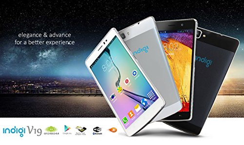 Indigi 3G Smartphone (Factory GSM Unlocked) 5.5-inch Full HD Capacitive Multi-Touch Screen Android 4.4 Smartphone White