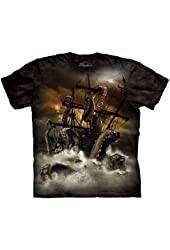 The Mountain Adult 100% Cotton Kraken Realistic T-Shirt (Black)