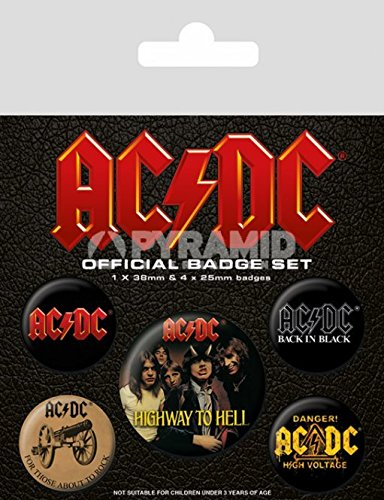 Pacco Spille Badge AC/DC