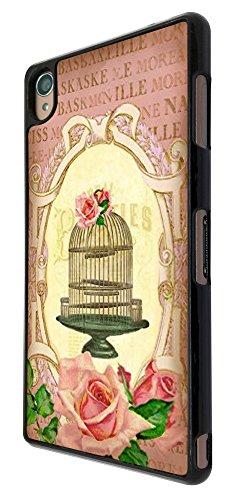 537 - Vintage Shabby Chic Victorian Bird Cage Floral Design für Alle Sony Xperia Z / Sony Xperia Z1 / Sony Xperia Z2 / Sony Xperia Z3 / Sony Xperia Z4 / Sony Xperia Z1 Compact / Sony Xperia Z2 Compact / Sony Xperia Z3 Compact / Sony Xperia Z4 Compact / Sony Xperia M2 / Sony Xperia M4 Fashion Trend Hülle Schutzhülle Case Cover Metall und Kunststoff - Bitte wählen Sie Ihr Telefonmodell und Farbe aus der Dropbox