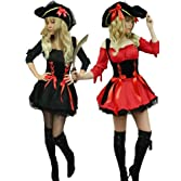 Yummy Bee Pirate Wench Plus Size 6-22 + HAT + Sword Womens Fancy Dress Costume