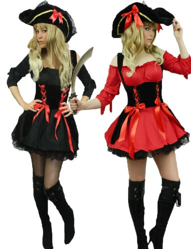 Yummy Bee Pirate Wench Plus Size 2-16 + HAT + Sword Womens Cosplay Costume