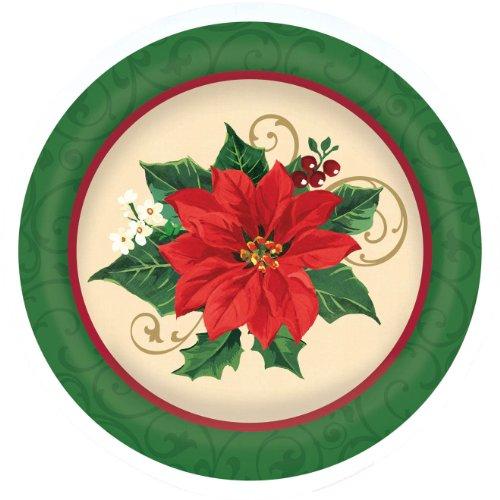 plate large melamine poinsettia