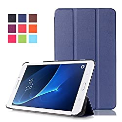 Tab A 7.0 Case, Pasonomi Ultra Slim Lightweight PU Leather Folio Case Stand Cover for Samsung Galaxy Tab A 7.0 7-inch Tablet 2016 Release (SM-T280 / SM-T285) (Dark Blue)