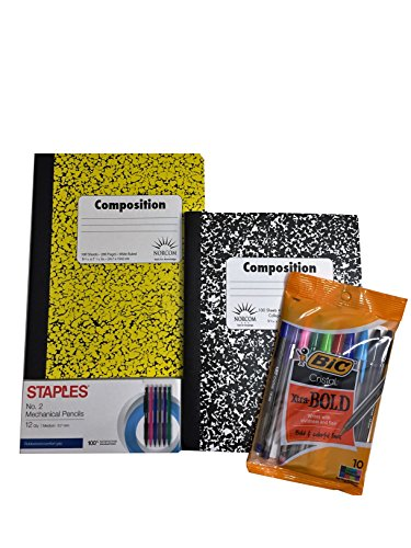 Composition Notebooks (2Pack), Assorted Pen Colors and Mechanical Pencil Bundle (Advance Composition compare prices)