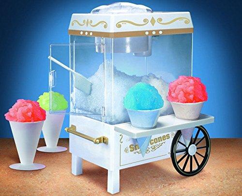 New Snow Cone Maker Machine Electric Retro Shaver Crusher Nostalgia Frozen Slushie