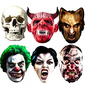 Halloween Party Masks, Pack of 6 from Star Cutouts