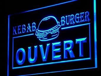 ouvert kebab burger enseigne lumineuse led sign neon light sign display i868 b c. Black Bedroom Furniture Sets. Home Design Ideas