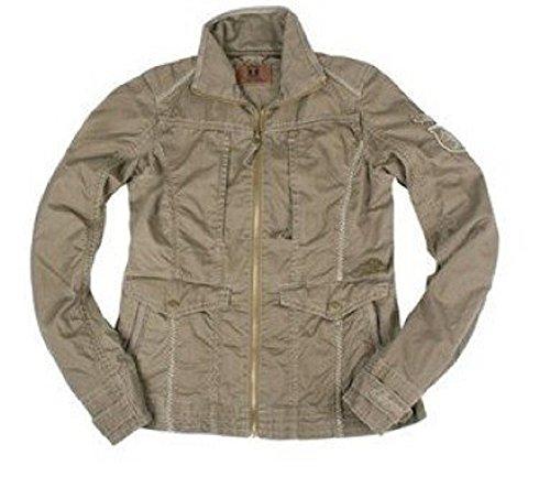 Jacke von Timezone aus Baumwolle in Grau Gr. M