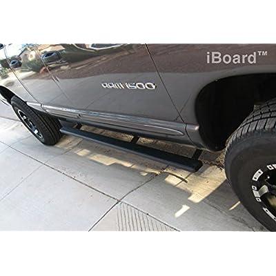 Compare Dodge Ram 1500 Quad Cab Textured Black iBoards Nerf Side