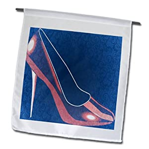 fl_63483_1 PS Creations - Decorative Red Shoe - High Heel - Womens Fashion - Flags - 12 x 18 inch Garden Flag