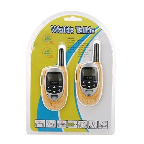 Crony T-228 22 Channels UHF Band Mini Walkie Talkie Yellow (2 PCS/ Pair)