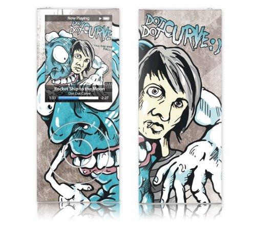 MusicSkins - Skin protettiva con grafica 'Till the wheels fall off' per iPod nano di quarta generazione, motivo: Dot Dot Curve