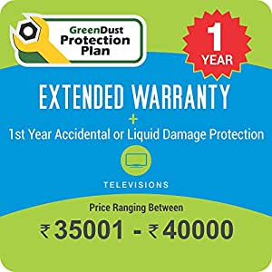GreenDust Protection Plan for TV (Rs. 35001-40000), 1 year-Delivery by Email