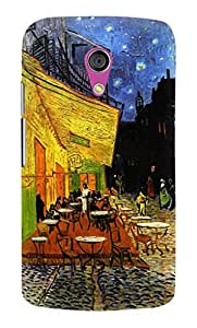 Artangle The Cafe Terrace By Vincent Van Gogh Case for Motorola G2