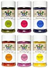 India Tree All Natural Nature's Colors Decorating Sugars Variety Set - 6 Pack