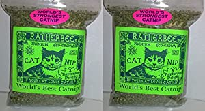 2 PACK RATHERBEE DRIED CATNIP WORLD'S BEST CATNIP (2 BAGS 1 OZ EACH)