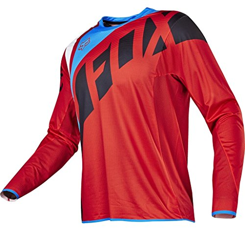 2017 FOX Flexair Seca MX Motocross Men Long Sleeves Jersey - Red (Gymnastics Embroidery Designs compare prices)
