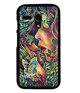 Aart Designer Luxurious Back Covers for Moto G Turbo Edition + Mini Selfie Stick and Portable Mini 16 LED, 3.5mm Jack, Selfie Enhancing Flash Light by Aart Store.