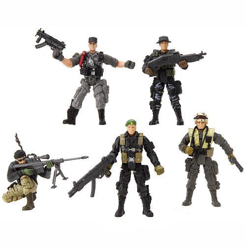 Buy Low Price True Heroes True Heroes 4 inch Military Soldiers 5-Pack Action Figures (B004QNVOAW)