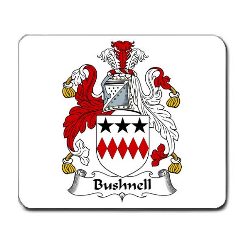 Bushnell Family Crest Coat Of Arms Mouse Pad