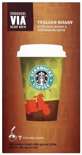 Starbucks VIA Italian Roast Coffee 7 Sachets (Pack of 12, Total 84 Sachets)