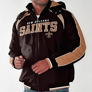 New Orleans Saints NFL Slot Receiver Heavyweight Detachable Hooded Jacket by G-III Sports
