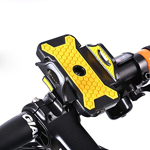 Review Universal Motorcycle MTB Bike Bicycle Handlebar Mount Holder for Iphone6 6S 5 5S 5C 4 4s Galaxy S6 S5 S4 Note 3 2 1 HTC LG GPS Etc.