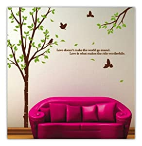 amazon com wallstickersusa tree with flying birds wall blik pong wall stickers amazon co uk baby