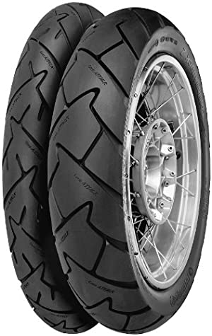 Continental Conti Trail Attack 2 – Adventure Touring/Dual Sport – Front – 110/80VR-19 , Position: Front, Rim Size: 19, Tire Application: All-Terrain, Tire Size: 110/80-19, Tire Type: Dual Sport, Load Rating: 59, Speed Rating: V, Tire Construction: Radial 02442940000