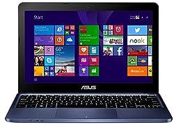 ASUS (11,6 Zoll) lautloses 980g Notebook (Intel Quad Core 4x1.83 GHz, 2GB RAM, 32GB SSD, Intel HD Graphic, micro-HDMI, Webcam, 2xUSB, WLAN, Windows 10 Home 64-Bit #5084
