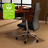 """Floortex 118923LR Ultimat Polycarbonate Chair Mat for Carpets up to 1/2"""" Thick, 47""""x35"""", Rectangular with Lip"""